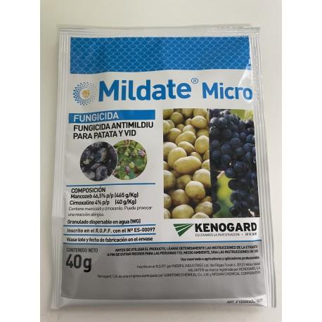 MILDATE  (Sobre de 40 Gr.) -Mancozeb 46,5% p/p (465 g/kg) + Cimoxanilo 4% p/p (40 g/kg)-