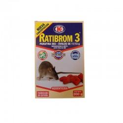 RATIBROM 3 OVULOS (300 gr) -BROMADIOLONA 0,0029%-